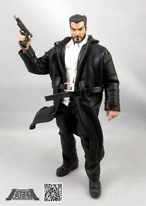 M Size Brown Faux Leather Trench Coat for Marvel Legends No Figure