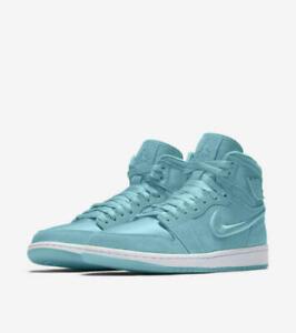 Molestia Arruinado negar  Nike Air Jordan 1 Retro High SOH Size 5-11.5 Light Aqua White Gold AO1847  440 | eBay