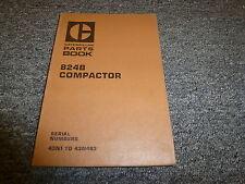 Caterpillar Cat 824B Compactor Parts Catalog Manual Book S/N 43N1-43N493