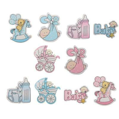 Cardmaking Scrapbooking /& Craft Embellishments 5 x /'ITS A GIRL/' BABY BOTTLES