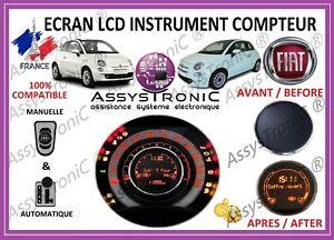 ECRAN LCD AFFICHEUR OBD pour COMPTEUR de FIAT 500 et FIAT 500 XL !