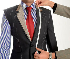 Burgundy Check Suit Made to Measure business work formal wedding bespoke Suits