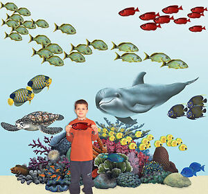 Image is loading Tropical-Coral-Reef-Wall-Stickers-Decals & Tropical Coral Reef Wall Stickers Decals | eBay