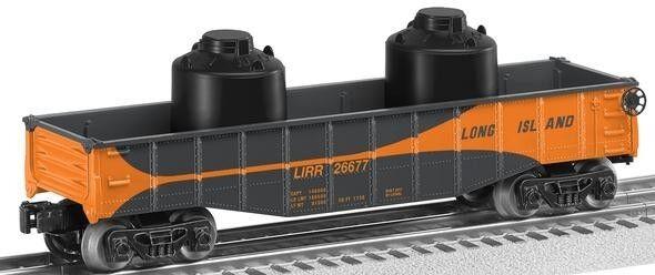 2012 Lionel 6-26677 Long Island Railroad Góndola Con Frascos Nuevo En La Caja