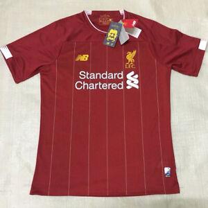 buy popular b9990 be5a5 Details about New Liverpool Home/Away Jersey Soccer Premier League 2019/20  Football Men Shirt