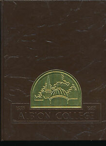 Albion College yearbook 1985 Michigan