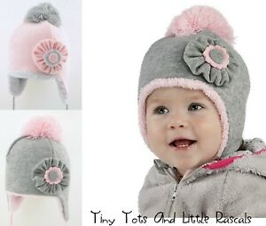 Baby Girls Toddlers Kids Warm Acrylic Winter Hat 9 mths - 4 years  552b8077a06