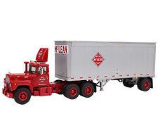 First Gear R Model Mack McLean Trucking Co. w/28' Pup Trailer 1/64  #60-0285