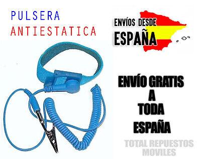 ▷ Pulsera Antiestatica Ajustable Con Pinza Cocodrilo Correa Electronica ✔