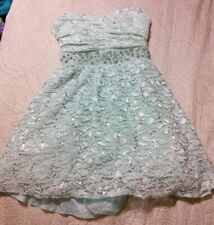 NWT-$69 SEQUIN HEARTS by MY MICHELLE DRESS JR 9//11//13 BLACK LACE STRAPLESS PROM