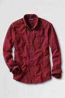 Lands' End Long Sleeve Flannel Shirt Men's S $50 Nip