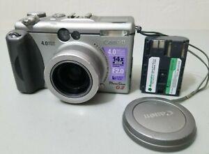 Canon PowerShot G3 4.0MP Digital Camera - Silver *Fair/tested* w/Battery