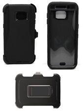 Galaxy S6 Edge Plus -Protection Defender Case Black (Belt Clip Fits Otterbox)