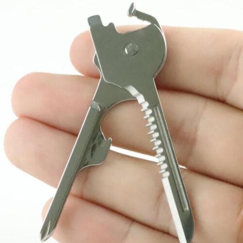 Silver Outdoor Key Ring Mini Tools Pocket Size Small Creative Men Tools Keyring