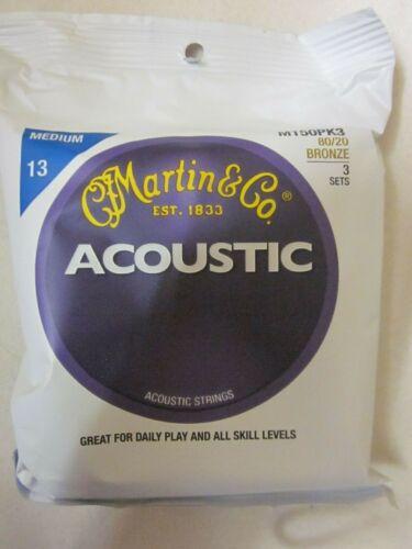 Martin/&Co Acoustic Guitar Strings Medium 13 M150PK3 80//20 Bronze 3 Sets
