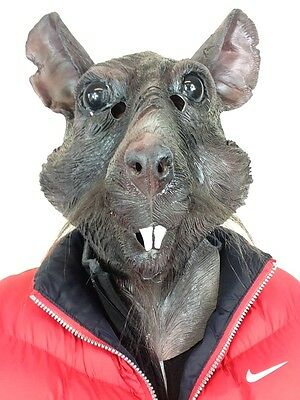 Rat Mask Hero Splinter Ninja Turtles Animal Latex Movie Quality Fancy Party