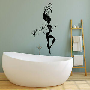 Get Naked style 4 Bathroom Inspirational Bedroom Vinyl wall Decal Sticker