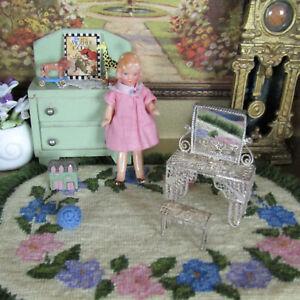 Antique STERLING SILVER FILIGREE VANITY Dollhouse Dresser Furniture 1:24 Scale?