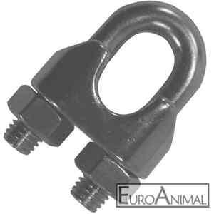 Seilklemme Edelstahl 2mm bis 10mm nach DIN741 Draht-Seil-Klemmen VA ...