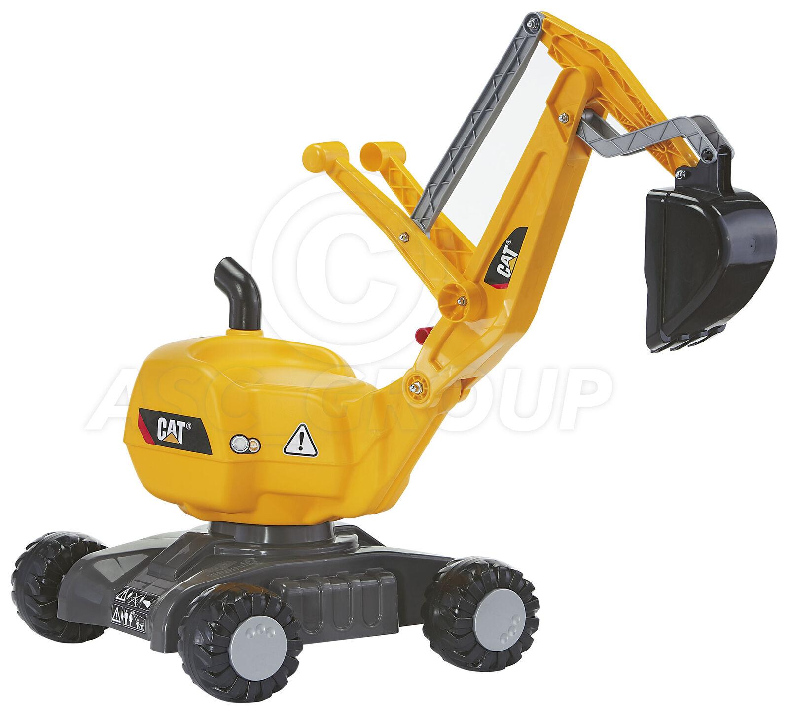 Rolly toys - Cat Rutscher Bagger auf Rädern - Sitzen 360 Rotation Alter 3+