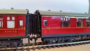 12-x-00-Gauge-Hornby-Dublo-MK1-Corridor-Connector-Gangway-Bellows-4mm-BR