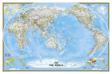 National geographic world executive pacific centered map giant national geographic world classic pacific centered map laminated poster gumiabroncs Choice Image
