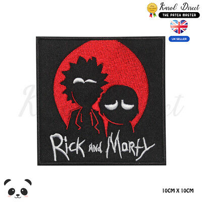 Rick and Morty American Sitcom Iron on Sew on Embroidered Patch #1384