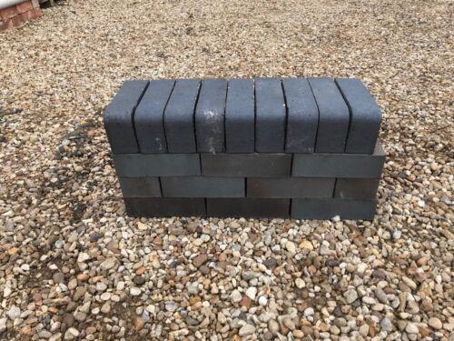 65mm Semi-Glazed Single Bullnose Tight Radius Brick Blue New x130