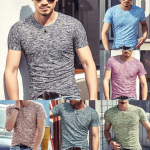 Men-Camo-T-Shirt-Slim-Fitted-Muscle-Workout-Tee-Tops-Short-Sleeve-Stretch-Casual