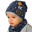 AJS Baby Jungen Set Frühlingsset Kindermütze Mütze Beanie Loopschal Baumwolle