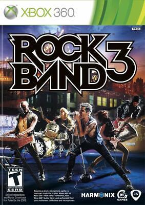 Rock Band 3 (Microsoft Xbox 360, 2010)