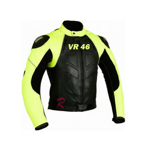 Valentino-Rossi-VR-46-Motorcycle-Motorbike-Leather-Racing-Jacket-Yellow-Black