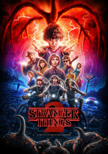 A4 A3 A2 3x Prints STRANGER THINGS Season 1 2 3 Posters Bundle