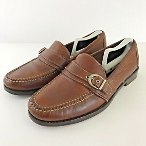 Cole Haan Country Mens Loafers Brown Tongue Buckle Moc-Toe Slip Ons 11 M