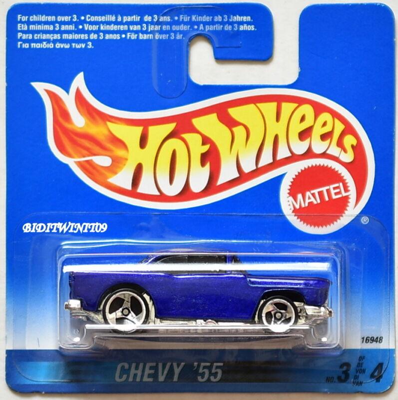 Chevrolet stepside pick up 1955 Candy rojo con llamas maqueta de coche 1:24 jada Toys