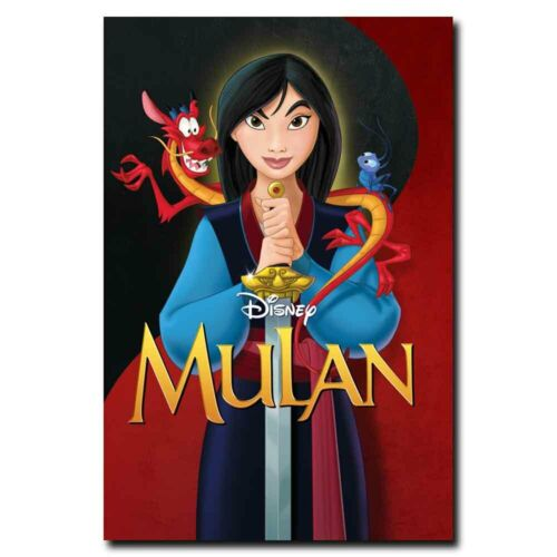 Mulan 12x18//24x36inch Cartoon Film Silk Poster Room Door Decals Art Print