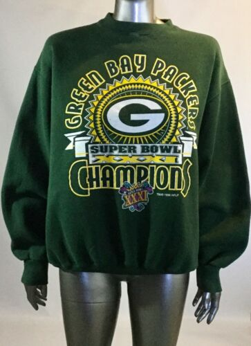 Xxxi 1996 Super Bol Vert Packers L Championnat Vintage Pull Baie Taille qWYPX6xcw