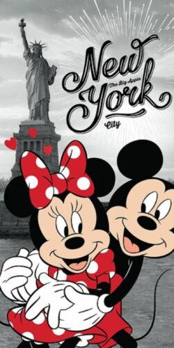 Minnie /& Mickey in New York Duschtuch Strandtuch Badetuch  70 x 140 cm