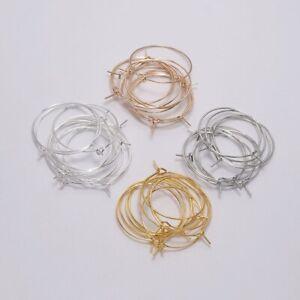 50PCS-Charm-Beading-Hoop-Loop-Earring-Ear-Wire-Big-Circle-For-DIY-Jewelry-Making