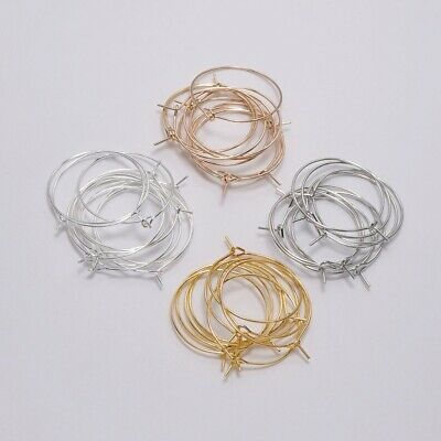 50PCS For DIY Jewelry Making Charm Beading Hoop Loop Earring Ear Wire Big Circle