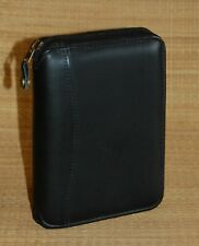 Pocket Franklin Covey Planner Spacemaker Black Leather Zip 1 Rings
