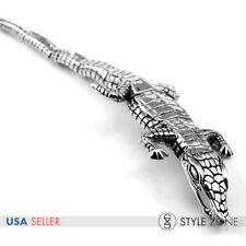 Men's Stainless Steel Gothic Vintage Alligator Crocodiles Full Body Bracelet B68