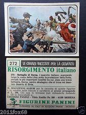 figurines cromos picture cards figurine risorgimento italiano 272 panini 1975 br