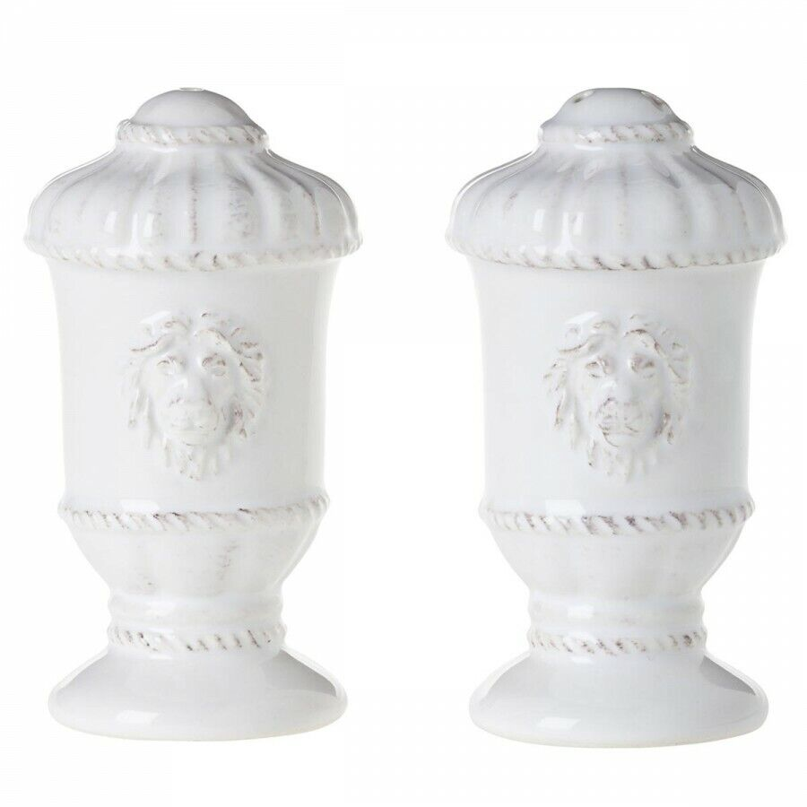 Juliska Jardins du monde blancwash Lion Head Salt & Pepper Shakers