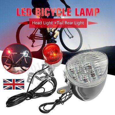 Vintage 6V 3W Generator Dynamo Friction Headlight Tail Light Set Motorized Bike