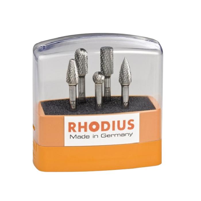 Rhodius HF Fräserset 5tlg. 305860 - mit Kunststoffbox für einfaches Verstauen