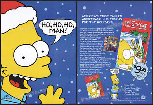 THE-SIMPSONS-CHRISTMAS-SPECIAL-Orig-1991-Trade-Print-AD-ADVERT-Bart-Simpson