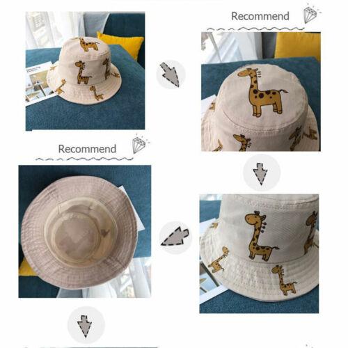 Spring Summer Children/'s Bucket Hats Cartoon Giraffe Sun Hat Outdoor Beach Hat