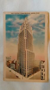 First-Central-Tower-Building-Akron-Ohio-Postcard-Unused