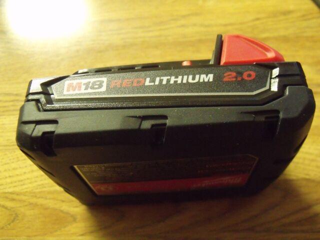 GENUINE Milwaukee 48-11-1820 M18 18V 2.0Ah Lithium Ion Battery